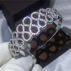 【送料無料】ブレスレット アクセサリ― クロスジュエリーマイクロリングホワイトゴールドcross jewelry micro pave cz ring women white gold filled wedding engagement gift