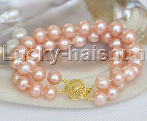 【送料無料】ブレスレット アクセサリ― ピンクブレスレットnatural 8 10mm round pink freshwater pearl bracelet j11970
