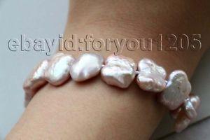 【送料無料】ブレスレット アクセサリ― パールブレスレット8 genuine natural 1316mm purple reborn keshi pearl bracelet 14k f1794