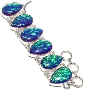【送料無料】ブレスレット アクセサリ― オーストラリアファイアーオパールブレスレット78australian triplet fire opal gemstone handmade jewelry beautiful bracelet 78