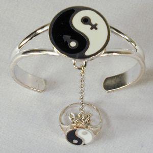 【送料無料】ブレスレット アクセサリ― ヤンスレーブブレスレット#チェーンリングレディースシルバーunity ying yang slave bracelet 59 chain ring women ladies silver
