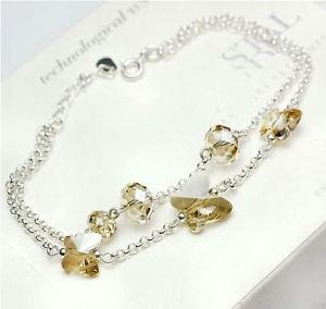 【送料無料】ブレスレット アクセサリ― スターリングシルバーバタフライブレスレットスワロフスキー925 sterling silver butterfly bracelet made with swarovski crystals