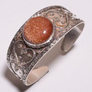 【送料無料】ブレスレット アクセサリ― クリスマスイブアジャスタブルカフchristmas eve jewelry silver plated golden sandstone handmade adjustable cuff