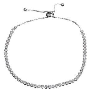 【送料無料】ブレスレット アクセサリ― ストランドテニスブレスレットソリッドスターリングシルバースライドgsparkling strandtennis braceletsolid 925 sterling silverczsliding47g25mm