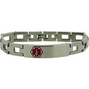 【送料無料】ブレスレット アクセサリ― ステンレススチールブレスレットjakob strauss gents stainless steel medical alert id bracelet