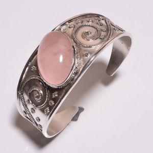 【送料無料】ブレスレット アクセサリ― クリスマスリアルローズクォーツハンドメイドchristmas gift 61ct real rose quartz silver plated handmade jewelry adjustable c