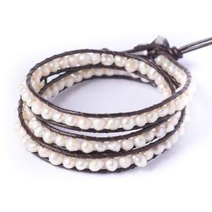 【送料無料】ブレスレット アクセサリ― パールシルバートーンブレスレット81stgeneration pearl 56 silver tone 3 line wrap friendship bracelet