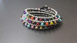 【送料無料】ブレスレット アクセサリ― カラフルトリプルラップブレスレットcolorful triple wrap bracelet