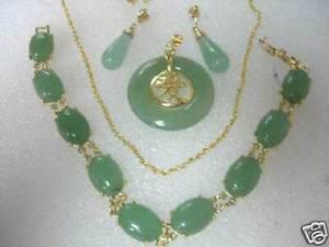 【送料無料】ブレスレット アクセサリ― ヒスイペンダントブレスレットイヤリングlmzb01 charming jade pendant bracelet earring silver plated gold plated set