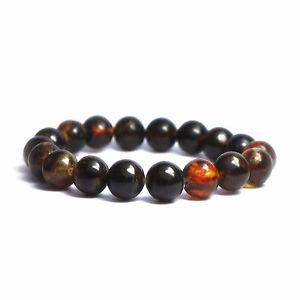 【送料無料】ブレスレット アクセサリ― バルトブレスレットダークビーズグラムgenuine baltic amber bracelet dark beads 135 gr