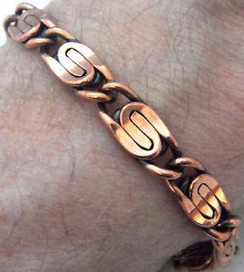 【送料無料】ブレスレット アクセサリ― ダブルブレスレットインチリンクcopper bracelet 8 34 inch appox double s link wheeler healiing folklore cb 297