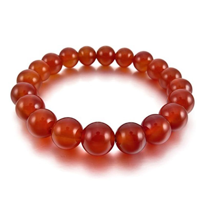 【送料無料】ブレスレット アクセサリ― ×エネルギーブレスレットリンクボールパールビーズ10x10mm energy bracelet link wrist stone agate red ball pearl beads a5h3
