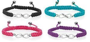 【送料無料】ブレスレット アクセサリ― パーソナライズインフィニティブレスレットプレゼントブレスレットpersonalised infinity shamballa chord bracelet birthday gift name bracelet uk
