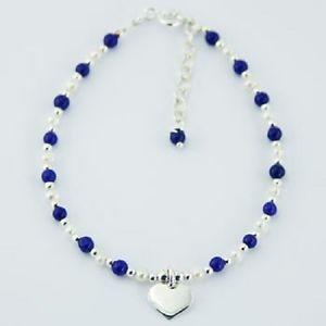 【送料無料】ブレスレット アクセサリ― ブレスレットラピスラズリパールビーズスターリングシルバーハートhandcrafted bracelet lapis lazuli gemstone amp; pearl beads sterling silver heart