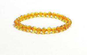 【送料無料】ブレスレット アクセサリ― ロットユニットバルトラウンドブレスレットlot 3 unit 5,5 mm natural baltic amber round adult bracelet 86 gr ta1492