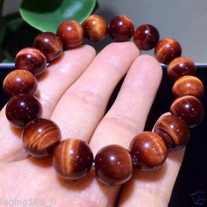 【送料無料】ブレスレット アクセサリ― レッドタイガーアイラウンドビーズブレスレット12mm natural red tigers eye stone round beads stretchy bracelet
