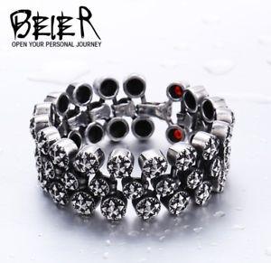 【送料無料】ブレスレット アクセサリ― クールファッションパンクビンテージマンチタンジルコンブレスレットcool fashion punk vintage mans 316l titanium steel zircon pentagram bracelet