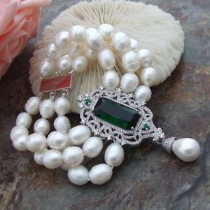 【送料無料】ブレスレット アクセサリ― ホワイトライスパールブレスレットコネクタ8 white rice pearl bracelet cz connector
