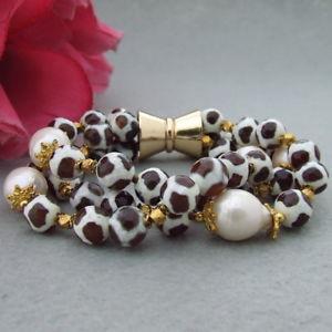 【送料無料】ブレスレット アクセサリ― ホワイトパールブレスレット8 4 strands mixed color agate white keshi pearl bracelet