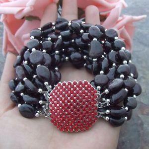 【送料無料】ブレスレット アクセサリ― ガーネットブレスレットge050107 8 9 strands red garnet bracelet