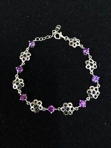 【送料無料】ブレスレット アクセサリ― gorgeous 925sterlingamethyst purple flower braceletgorgeous 925 sterling silver amethyst purple flower bracelet