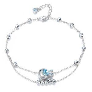 【送料無料】ブレスレット アクセサリ― ブレスレッツスワロフスキーカクレクマノミアンクレットジュエリーwomen bracelets crystals swarovski clown fish anklets fashion charm jewelry
