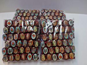 【送料無料】ブレスレット アクセサリ― ロットブレスレットイエスエンジェルメアリーストレッチlot 48 oval wooden stretch elasitic religious bracelet jesus angel mary