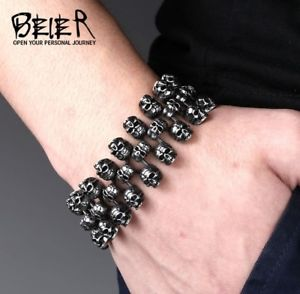 【送料無料】ブレスレット アクセサリ― クールファッションパンクパーソナライズビンテージマンチタンスカルブレスレットcool fashion punk personalized vintage mans 316l titanium steel skull bracelet