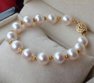 【送料無料】ブレスレット アクセサリ― サウスシーホワイトパールブレスレットクラスプbeautiful 758 aaa 910mm south sea genuine white pearl bracelet 14k clasp