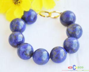 【送料無料】ブレスレット アクセサリ― s1807 820mms1807 8 20mm blue round lapis lazuli bead bracelet