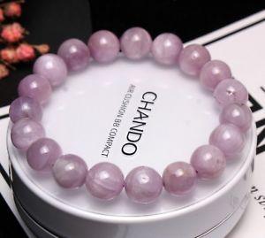 【送料無料】ブレスレット アクセサリ― クリスタルラウンドビーズブレスレット10mm genuine natural purple kunzite crystal round beads bracelet aaa