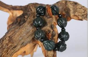 【送料無料】ブレスレット アクセサリ― 100hetianクルミブレスレットcertification 100 natural xinjiang hetian jade pure hand carved walnut bracelet