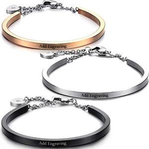 【送料無料】ブレスレット アクセサリ― ステンレススチールパーソナライズカフカラーstainless steel 7 personalized cuff braceletfree engraving choose color