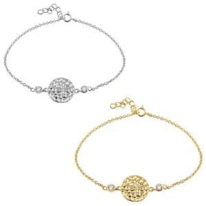 【送料無料】ブレスレット アクセサリ― ブレスレットクロスサークルsterling silver charm bracelet w cz stones cross circle