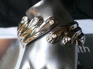 【送料無料】ブレスレット アクセサリ― ブレスレットファッションカフアジャスタブル women bracelet fashion silver metal angel wings cuff adjustable rhinestones