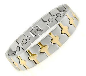 【送料無料】ブレスレット アクセサリ― ステンレススチールブレスレットmagnetic stainless steel bracelet grh2218