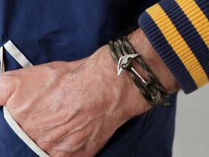 【送料無料】ブレスレット アクセサリ― ネイビーグリーンシルバーアンカーブレスレットロープメンズレディースnavy green silver anchor bracelet nautical paracord rope mens womens adjustable