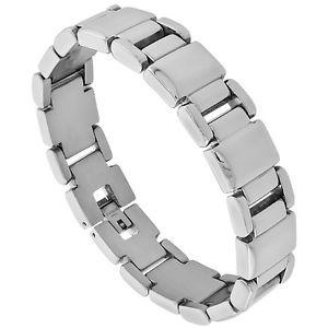 【送料無料】ブレスレット アクセサリ― ステンレススチールバーブレスレットstainless steel rectangular bar bracelet