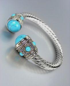 【送料無料】ブレスレット アクセサリ― バリシルバードットケーブルターコイズヒントカフブレスレットgorgeous chunky balinese silver dots cable turquoise stone tips cuff bracelet