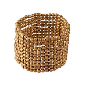 【送料無料】ブレスレット アクセサリ― ゴールドトーンビーズストレッチブレスレット81stgeneration brass gold tone small bead 45 cm stretch adjustable bracelet
