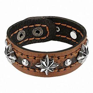 【送料無料】ブレスレット アクセサリ― ブレスレットbracelet brown leather stars