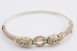 【送料無料】ブレスレット アクセサリ― トルコハンドメイドスターリングシルバーエメラルドトパーズスネークブレスレットturkish handmade jewelry 925 k sterling silver emerald topaz snake bracelet