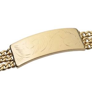 【送料無料】ブレスレット アクセサリ― メンズkゴールドブレスレットライフタイム mens 18k gold plated fancy id bracelet 8 lifetime warranty