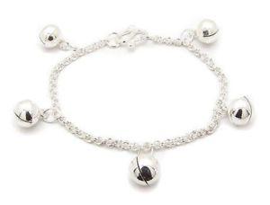 【送料無料】ブレスレット アクセサリ― スターリングシルバージングルベルチェーンブレスレットtoddler or childs sterling silver jingle bell chain bracelet