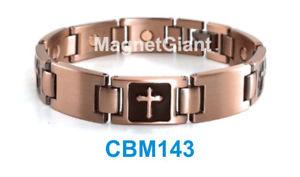 【送料無料】ブレスレット アクセサリ― クロスリンクパワーcbm143cross men copper link high power magnetic bracelet cbm143