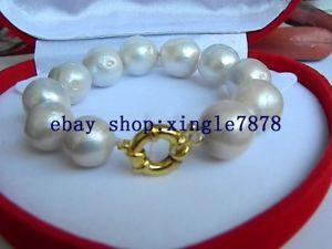 【送料無料】ブレスレット アクセサリ― ラウンドエジソンサウスシーパールブレスレットnatural white 1618 round edison keshi south sea pearl bracelets 75 aaa 999