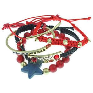【送料無料】ブレスレット アクセサリ― ワンダーウーマンブレスレットwonder woman bracelet set red