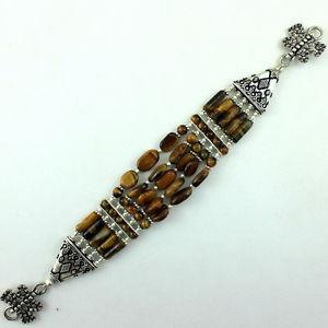 【送料無料】ブレスレット アクセサリ― タイガーアイブレスレットグラムnatural fine tiger eye gemstone beautiful charming bracelet 37 grams