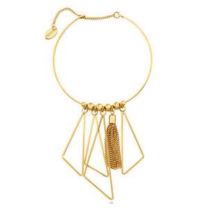 【送料無料】ブレスレット アクセサリ― ファッションカフberricle goldtone triangle fashion statement cuff