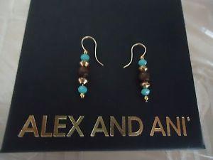 【送料無料】ブレスレット アクセサリ― アレックスシーグラスイヤリングラファエリアンゴールドカードボックスalex and ani sea glass tidepool earrings rafaelian gold finish w card amp; box